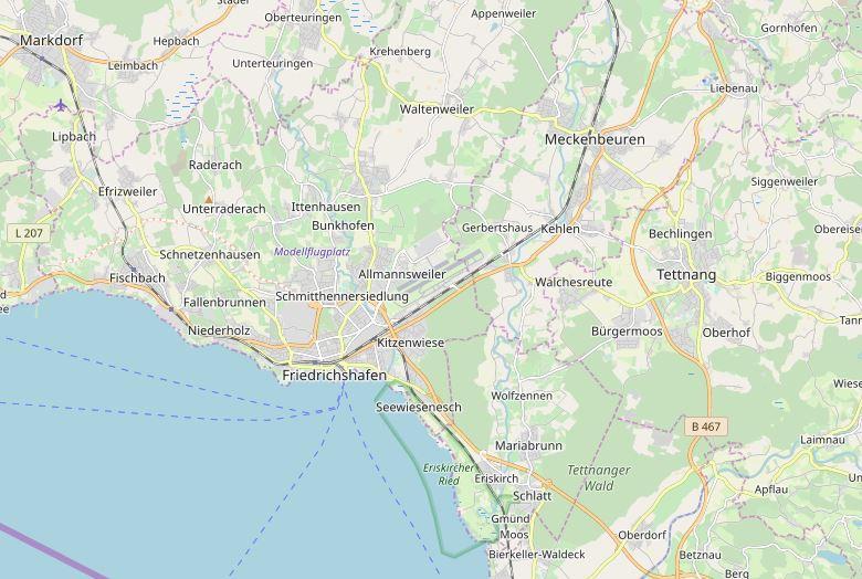 Regiokarte Friedrichshafen Immobilien Guatchter Haus Wert berechnen Rehkugler Bühler