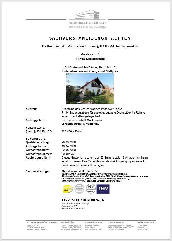 Immobiliengutachten Rehkugler Bühler Immobiliensachverständiger 1