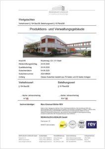 Musterblatt-Gewerbebewertung Verkehrswertgutachten Gewerbe
